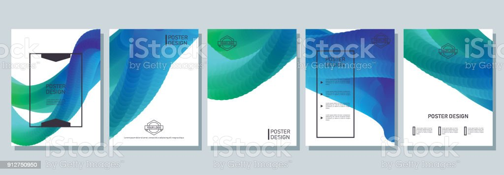 Abstract poster design. vector art illustration