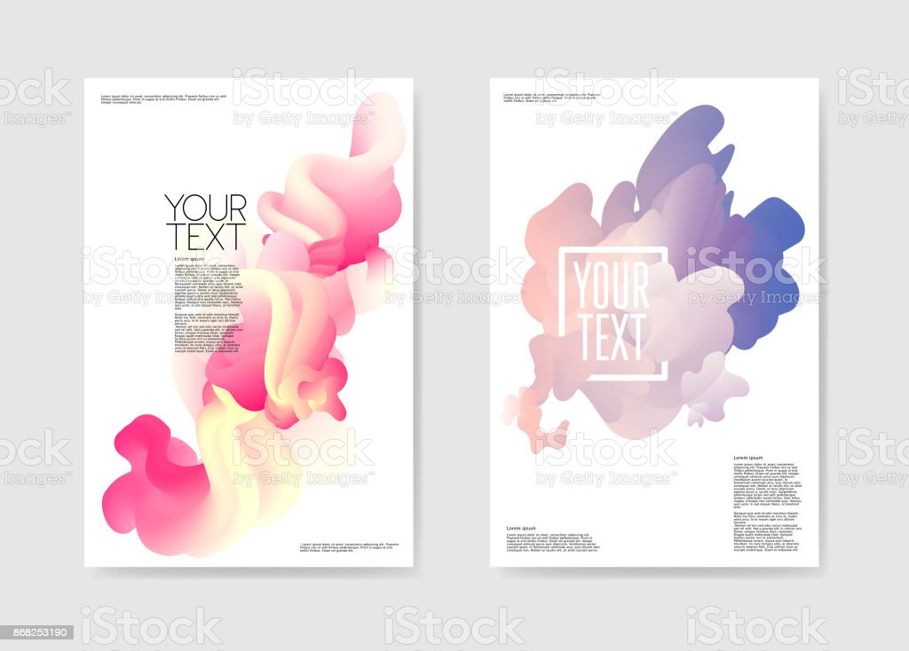 Abstract Poster Liquid Background. Fluid Shapes Brochure Template. Banner Identity Card Cover Design. Vector illustration royalty-free abstract poster liquid background fluid shapes brochure template banner identity card cover design vector illustration stock illustration - download image now