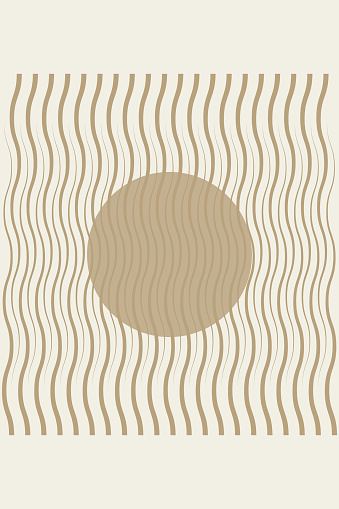 Abstract poster with geometric elements and lines in the style of the 20s.