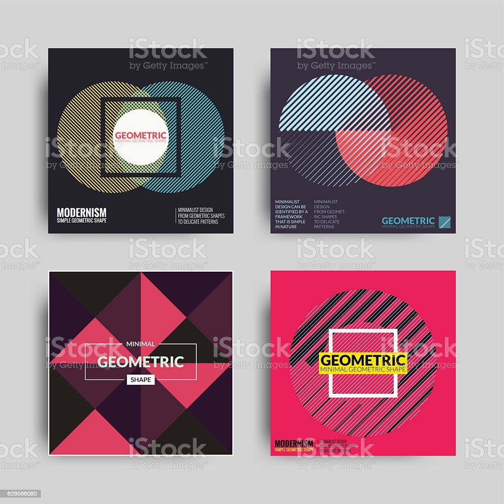 Abstract Posters Art Graphic Backgrounds vector art illustration