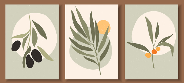 abstract posters set