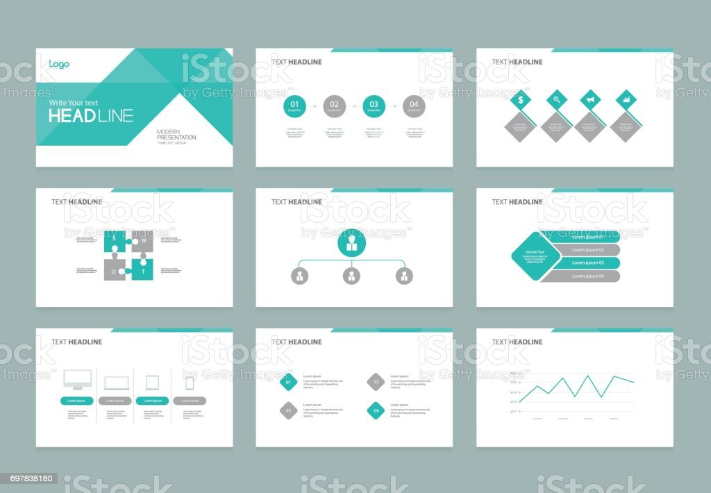 abstract presentation slide template design background with, Presentation templates