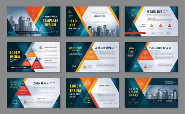 Abstract Presentation Templates, Abstract Geometric Red Triangle Background vector Abstract Presentation Templates, Abstract Geometric Red Triangle Background vector, Infographic elements Template design set for Brochures, flyer, leaflet, magazine, invitation card, annual report, Web Banner, Booklet, simple design invitations templates stock illustrations