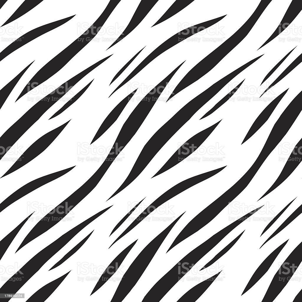 Abstract print animal seamless pattern in black and white royalty-free stock vector art