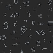 Abstract programming pattern background illustration for your design.