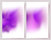 Abstract Purple Banners.