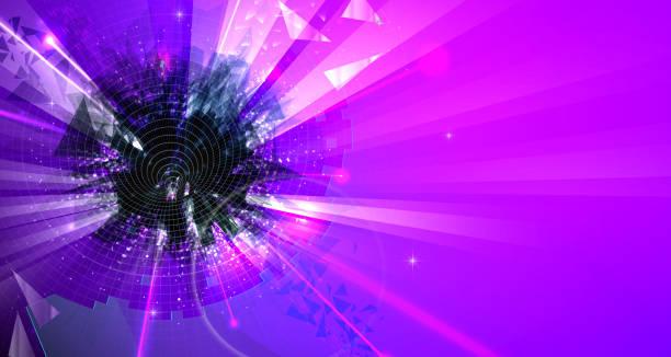 Abstrakt lila Farben Hintergrund mit futuristischen Elementen – Vektorgrafik