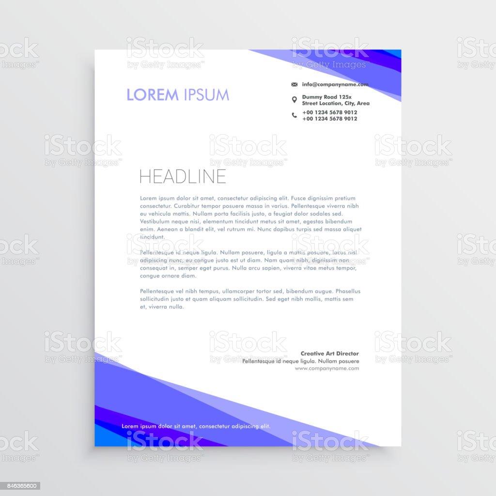 Abstrakte Lila Form Briefkopf Design Stock Vektor Art Und Mehr