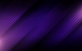 Abstract purple straight stripes. Hi-tech futuristic background