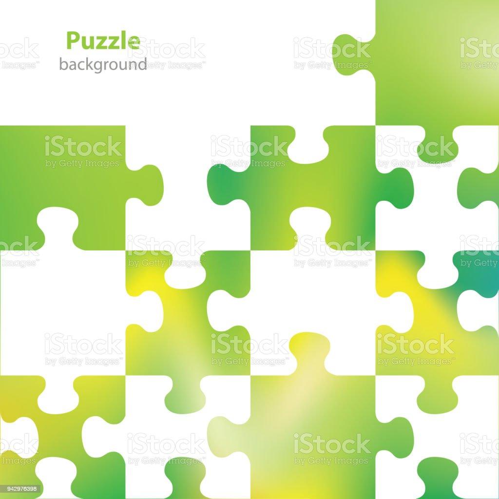 Puzzle Abstrait Fond Carte De Visite Blanc Cliparts