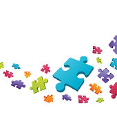Abstract puzzle pie vector background