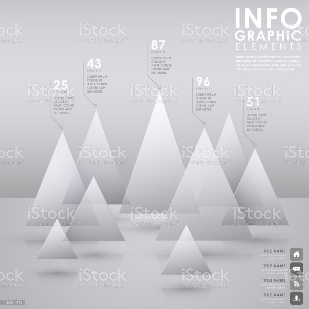 abstract pyramid chart infographics royalty-free stock vector art