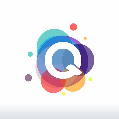 Abstract Q Initial logo designs concept vector, Colorful Letter Q logo designs