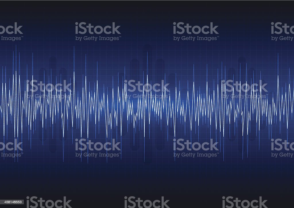Abstract quake graph background vector art illustration