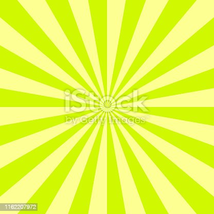 Abstract radial background with divergent rays. Vector illustration.