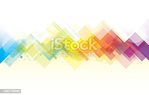 Jagged abstract rainbow colored vector background