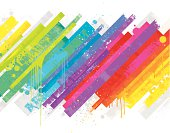 Vibrant multi coloured abstract background.
