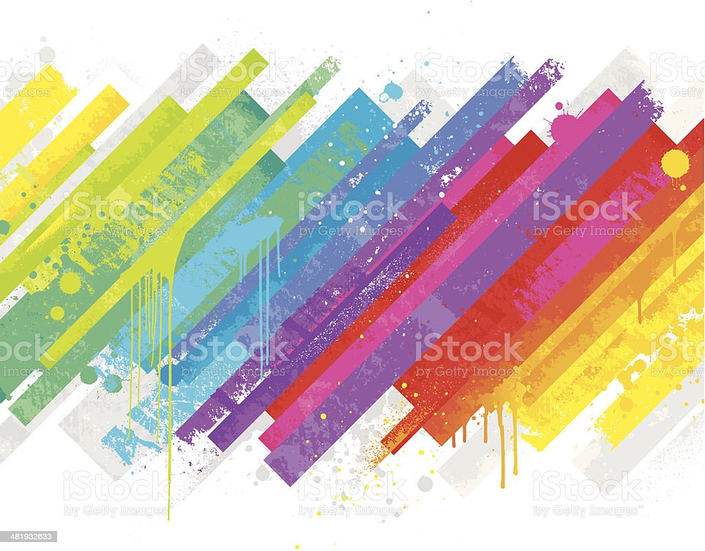 Abstract rainbow background vector art illustration
