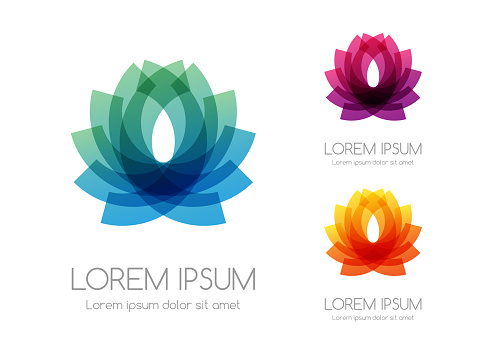 Abstract rainbow color logo. Colorful vector emblem.