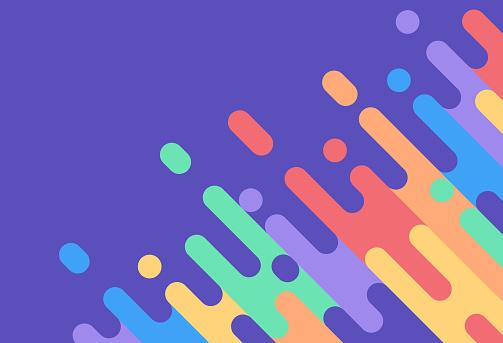 Abstract Rainbow Colorful Dash Background - Immagini vettoriali stock e altre immagini di Angolo - Forma