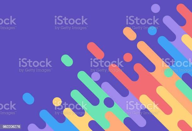 Abstract Rainbow Colorful Dash Background - Arte vetorial de stock e mais imagens de Abstrato