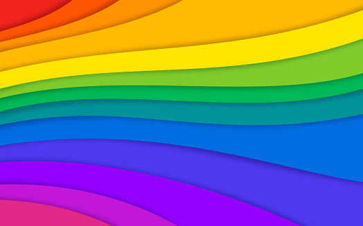 Abstract Rainbow Colorful Layered Background