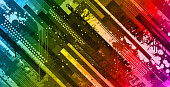 Modern rainbow abstract grunge vector background