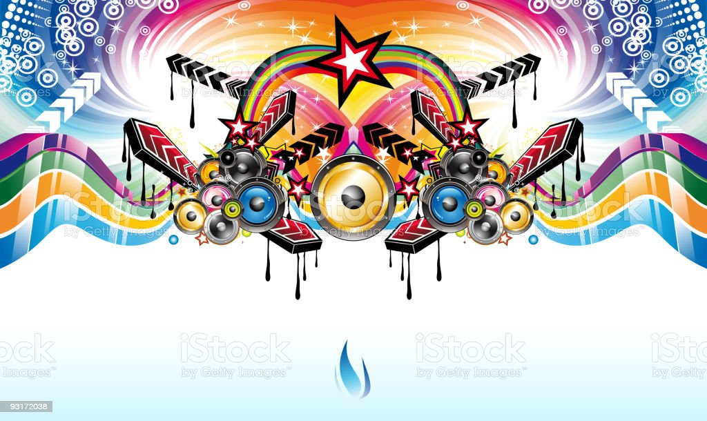 Rainbow Music Stock Images: Abstract Rainbow Music Background Stock Vector Art & More