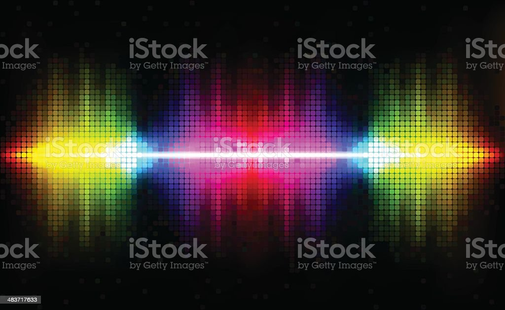 Abstract Rays vector art illustration