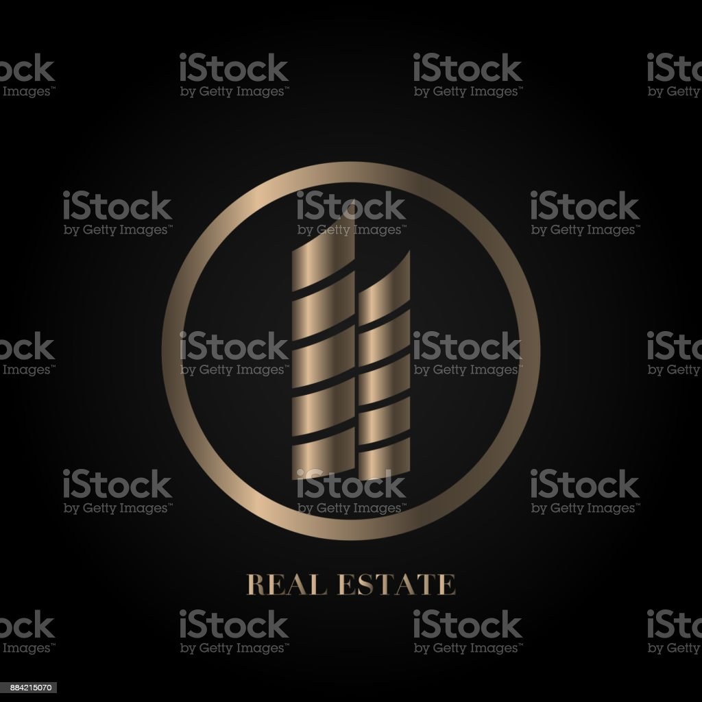 Abstract Real Estate House Apartment Building Logo Vector