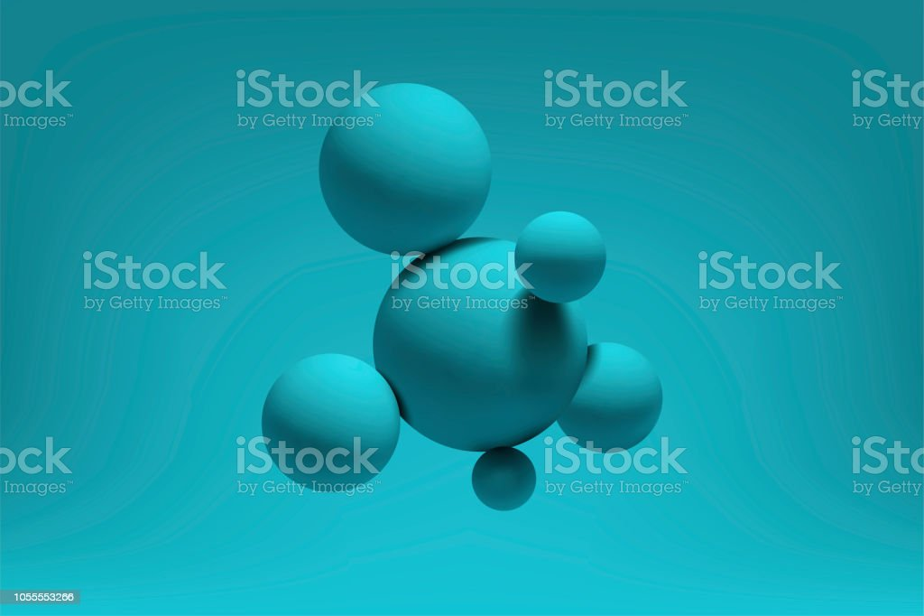 Abstract realistic 3d spheres structure background. Vector illustration royalty-free abstract realistic 3d spheres structure background vector illustration stock illustration - download image now