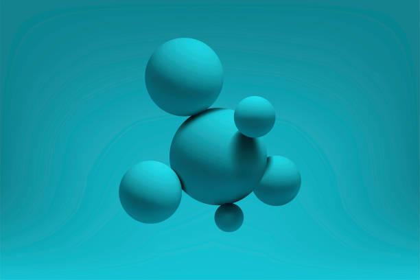 abstrakte, realistische 3d-kugeln strukturieren hintergrund. vektor-illustration - blase physikalischer zustand stock-grafiken, -clipart, -cartoons und -symbole