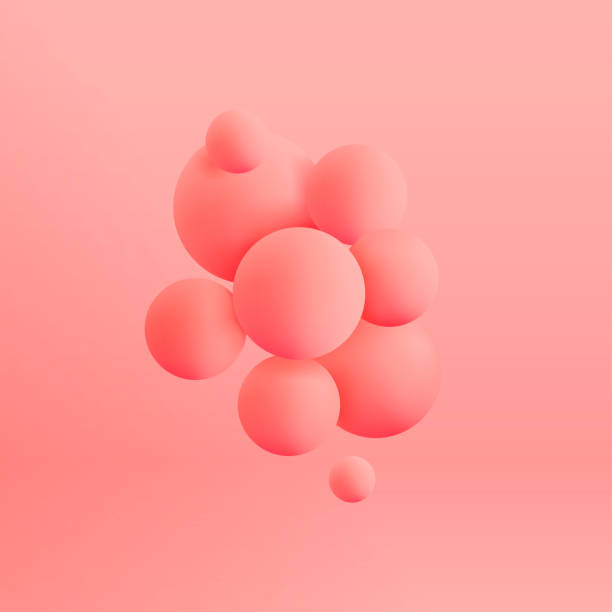 Abstract realistic 3d spheres structure pastel colored background. Vector illustration Abstract realistic 3d spheres structure pastel colored background. Vector illustration three dimensional stock illustrations