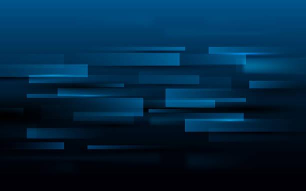 抽象矩形技術深藍色背景下的數位高科技概念 - 長方形 幅插畫檔、美工圖案、卡通及圖標