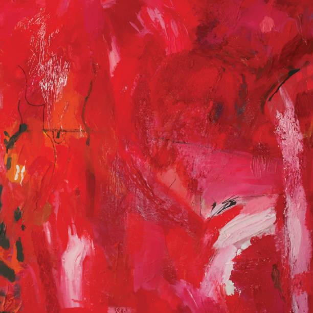 Abstrakt rot Acryl-Gemälde – Vektorgrafik