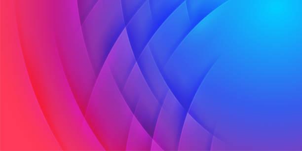 ilustrações de stock, clip art, desenhos animados e ícones de abstract red and blue waves vector background - vr red background