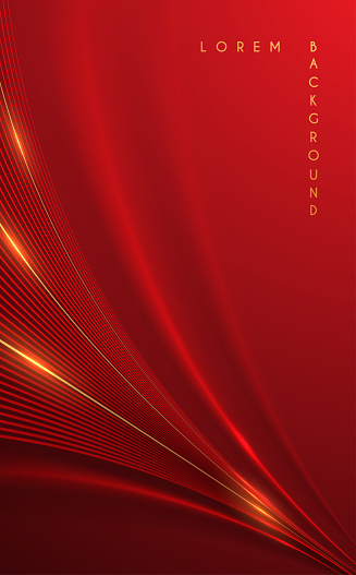 Abstract red and gold lines background
