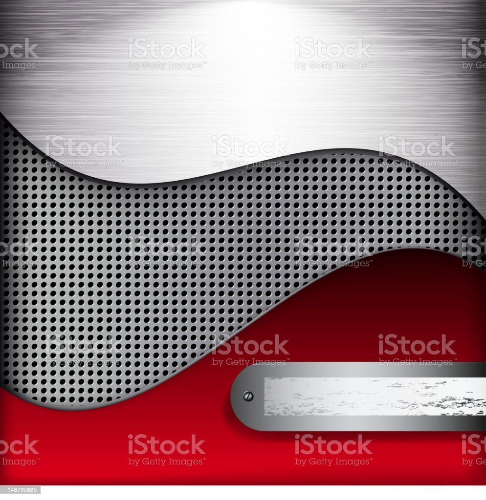 Abstract red and gray wavy background royalty-free stock vector art