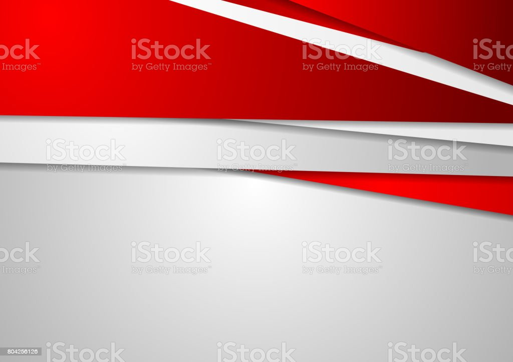 Abstract red and grey corporate background vector art illustration