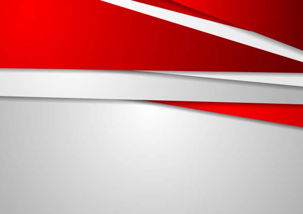 Abstrakte rote und graue corporate Hintergrund – Vektorgrafik