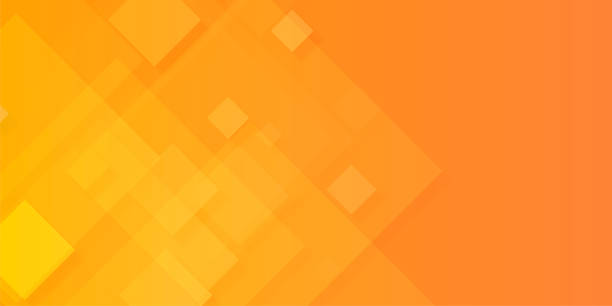 Abstract red and yellow Background Abstract orange Background cube stock illustrations