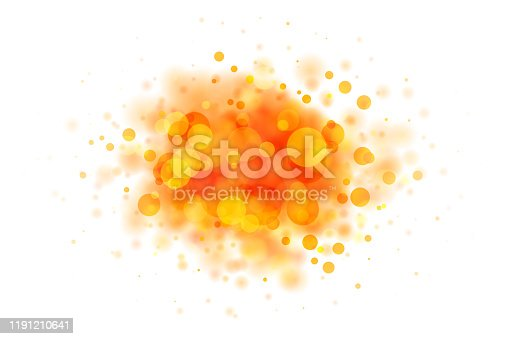 istock Abstract red and yellow blob on white made from defocused circles 1191210641