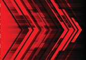 Abstract red arrow design modern technology futuristic background vector illustration.