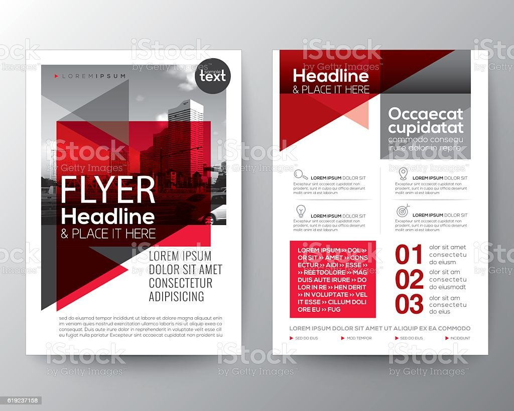 brochure layout design - abstract red background for poster brochure flyer design