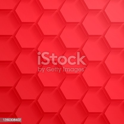 istock Abstract red background - Geometric texture 1250308402