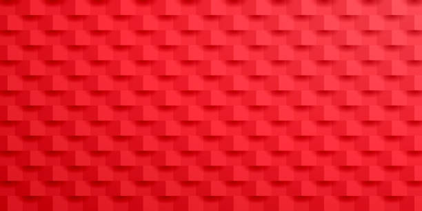 Abstract red background - Geometric texture vector art illustration