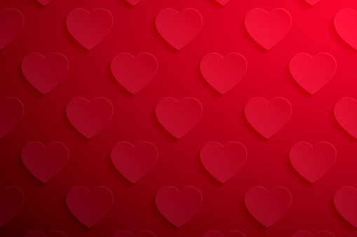Abstract red background - Heart pattern