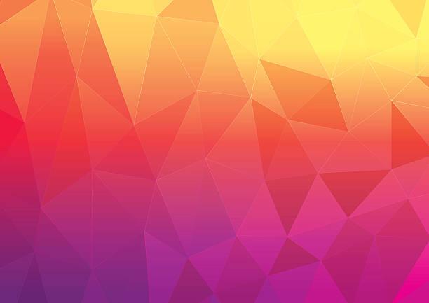 Abstrakt Rot Hintergrund Low-Poly-Dreiecke – Vektorgrafik