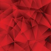 Abstract red background, triangle pattern