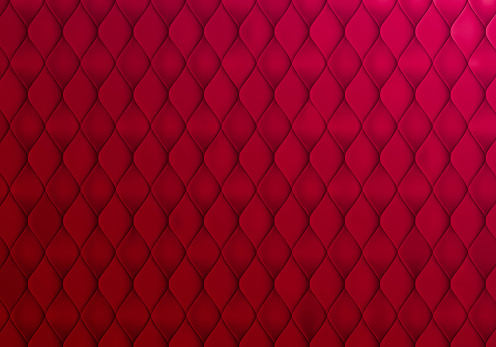 Abstract Red Background with Capitone Texture. Vector Minimalistic Bg